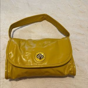 Marc Jacobs patent leather mustard shoulder bag